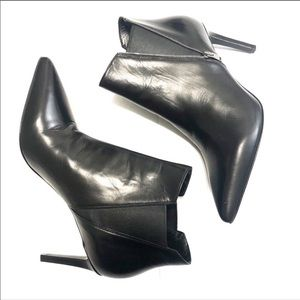 Saint Laurent Shoes - Saint Laurent Pointed Toe Black Booties